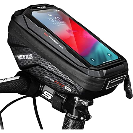 Support Smartphone Universel Sacoche V/élo Guidon avec /Écran Tactile Transparent Faireach Sacoche T/él/éphone V/élo Etanche Support V/élo Cadre du VTT Moto Scooter pour Smartphone sous 6,7 Pouce