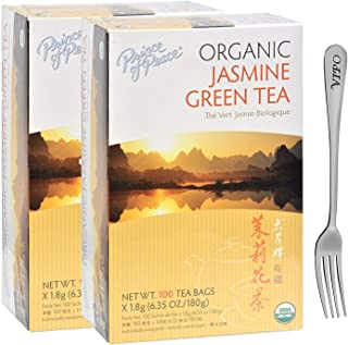 Prince of Peace Organic Green Tea Jasmine, 100 Count (2-Pack)