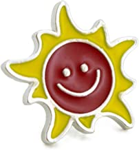 [YUTTALIA(ユッタリア)] 太陽 ピンバッチ 笑顔 バッジ 日 スマイル 幸運 ニコちゃんマーク 幸せ ラッキー ピンズ