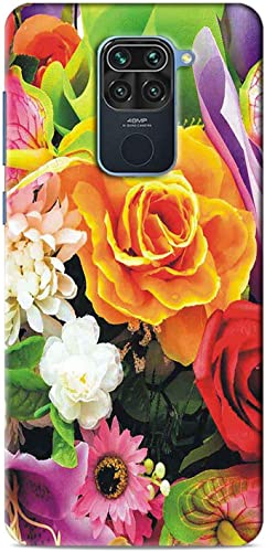 NDCOM Flowers Yellow Rose Printed Hard Mobile Back Cover Case For Redmi Note 9