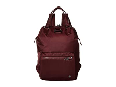 Pacsafe Citysafe CX Anti-Theft Mini Backpack (Merlot) Backpack Bags