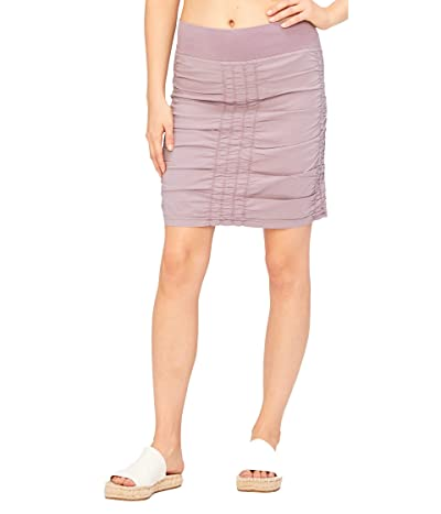 XCVI Wearables Solid Trace Skirt (Aster Pigment) Women