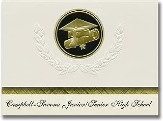 Signature Announcements Campbell-Savona Junior / Senior High School (Campbell, NY) Annonce de remise des diplômes, pack d'...