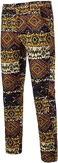 Goutique Mens Luxury Dress Pants Expandable Waist Slim Vintage Ethnic Style Straight Cylinder Pants Business Trousers