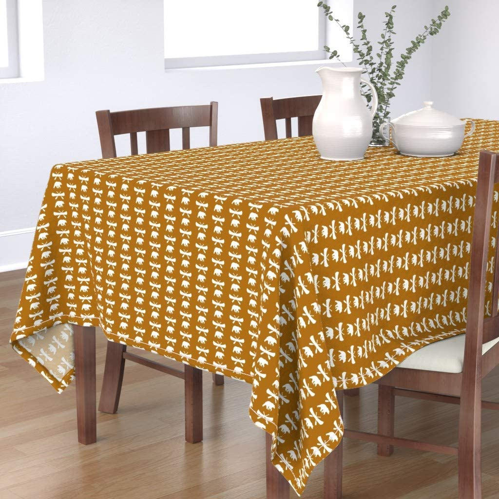 Philadelphia Mall Manufacturer OFFicial shop Roostery Spoonflower Tablecloth Woodland Lake Cano Camping Bear