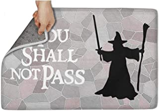 Hymanwasqhft You Shall not Pass Door Mats Non-Slip Indoor Door Mat 23.5
