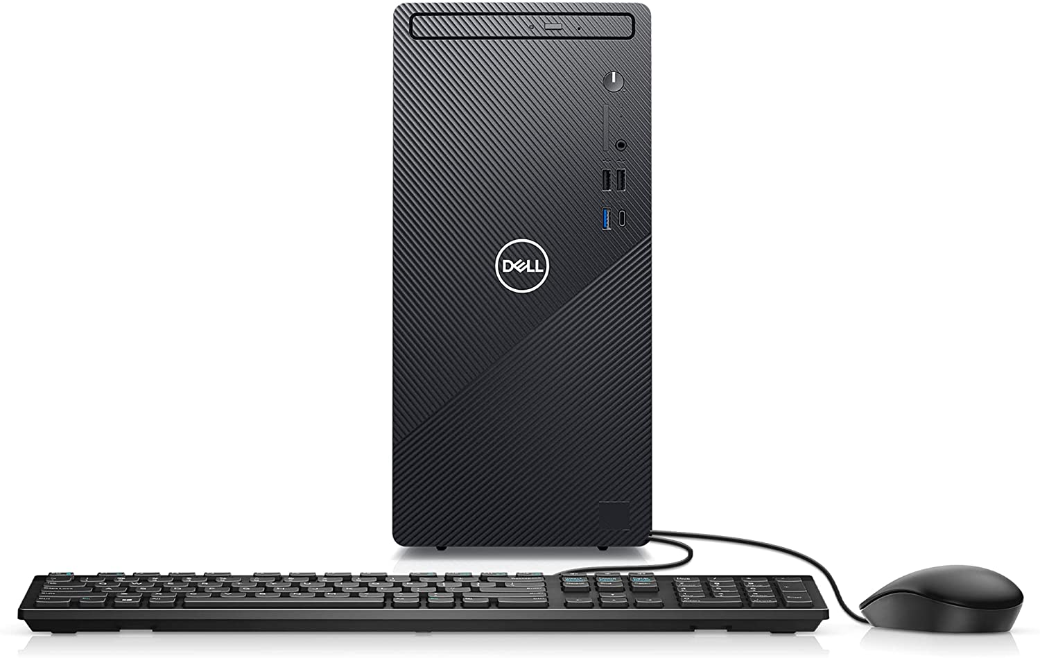 Dell Inspiron 3891 Compact Tower Desktop - Intel Core i3-10105, 8GB DDR4 RAM, 256GB SSD, Intel UHD Graphics 630 with Shared Graphics Memory, Windows 10 Home - Black (Latest Model)