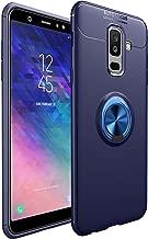 جراب Galaxy A6 2018 من Bpowe [سيليكون ناعم] حامل حلقة معدنية دوارة 360 درجة متوافق مع غطاء واقٍ رفيع مضاد للصدمات لهاتف Samsung Galaxy A6 2018, A6