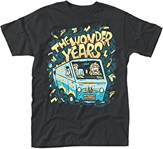 The Wonder Years T Shirt Wndr Van Band Logo Official Mens Black
