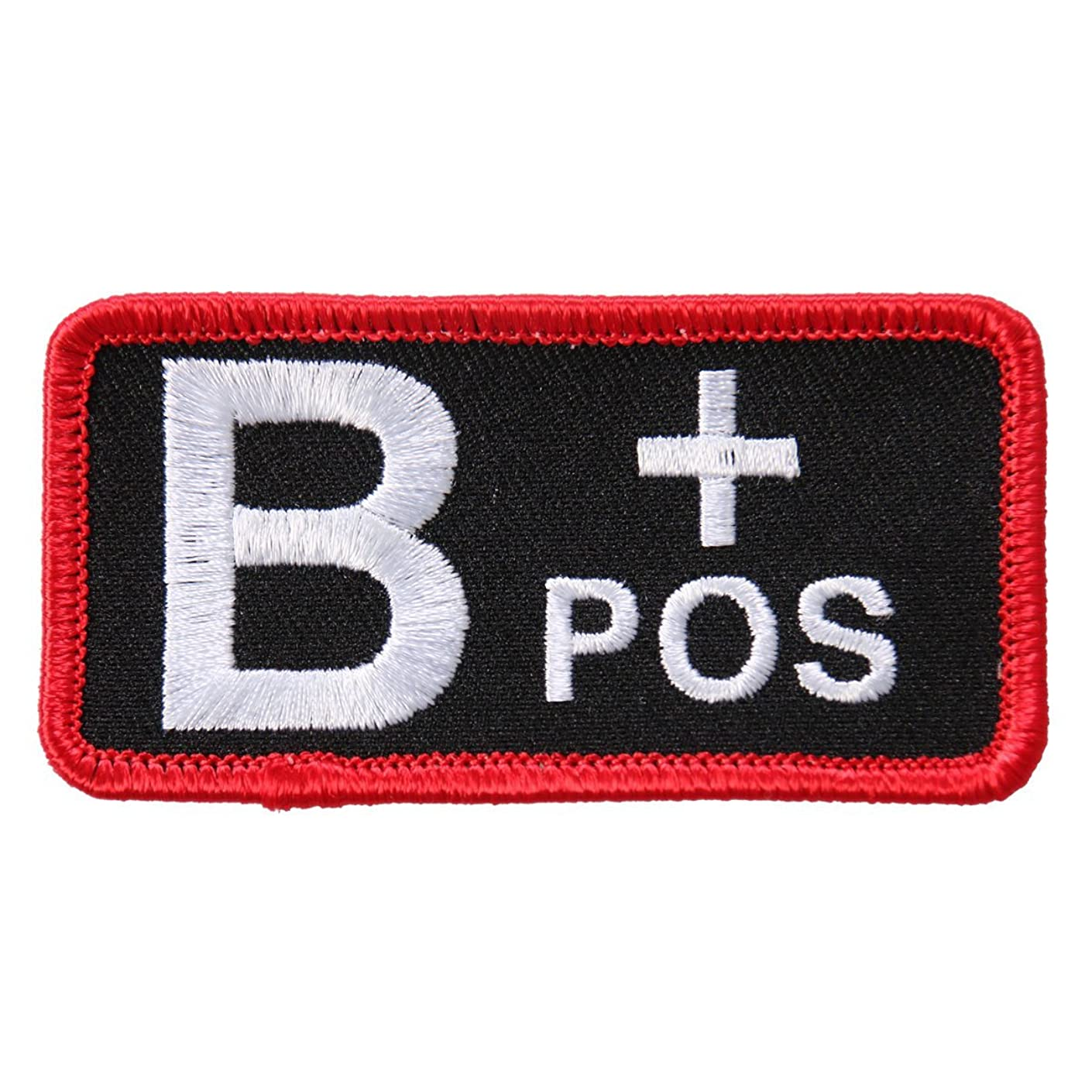 Hot Leathers, BLOOD TYPE B POS, High Thread Embroidered Iron-On / Saw-On, Heat Sealed Backing B+ Positive Rayon PATCH - 3