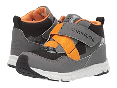 Tsukihoshi Kids Tokyo (Toddler/Little Kid) (Gray/Orange) Boys Shoes