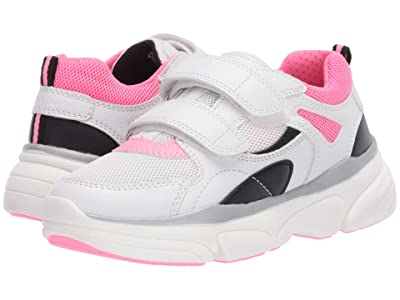 Geox Kids Lunare 3 (Little Kid/Big Kid) (White/Fuchsia) Girl