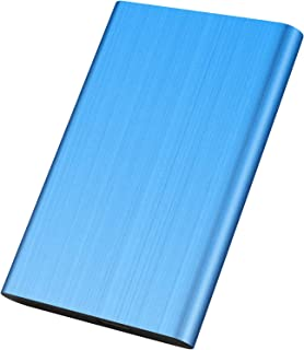 外付けハードディスク 1TB ポータブル 外付けHDD mac/pc/ps4/tv/xbox 対応 USB3.0/2.0 簡単接続 高速(1TB, 青)