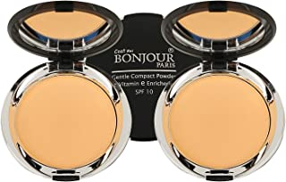 BONJOUR PARIS Photo Match Translucent Compact Face Powder and Highlighter,Wheatish To Dusky Skin- 30% Discount, Pack of 2 (9gm each)