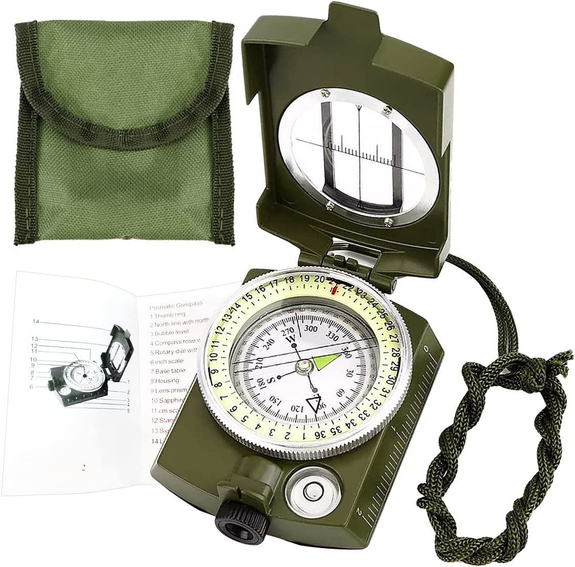 Da Butler Military Lens Bargain Aiming Bag with Shock Waterproof Surprise price Compass