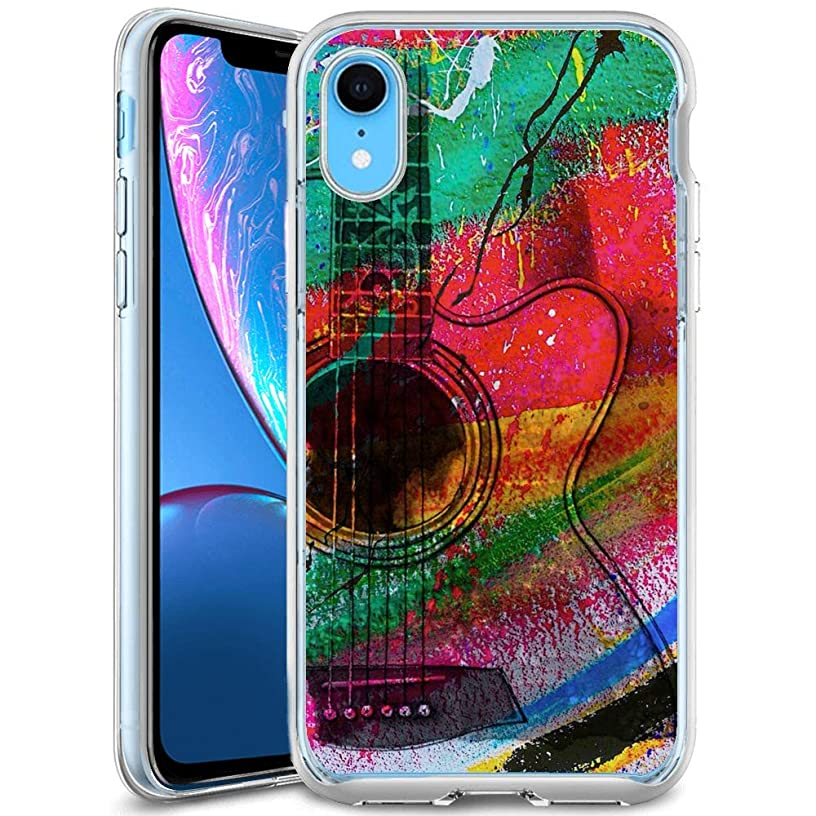 iPhone Xr Clear Case Beautiful Guitar Soft Ultra-Thin Shock Absorption Protective Case for iPhone Xr