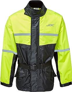JDC Wasserdichte Motorrad-Regenüberzugsjacke Hohe Sichtbarkeit – SHIELD –..