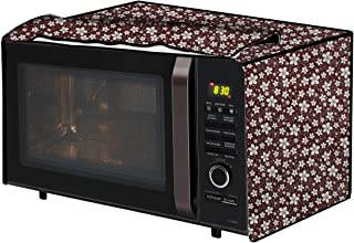 The Furnishing Tree Microwave Oven Cover for IFB 20BC4 20-Litre 1200-Watt Convection Floral Pattern Brown