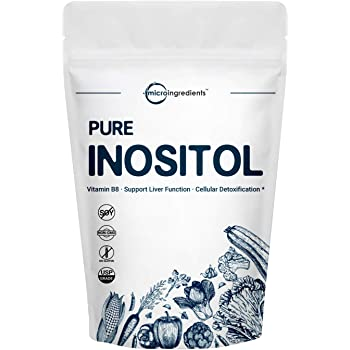 Micro Ingredients Pure Inositol Powder, Inositol B8 Powder, 1KG (2.2 Pounds), Strongly Supports Liver Health & Antioxidant, Super Inositol for Hair and Inositol for Sleep, Non-GMO and Vegan Friendly