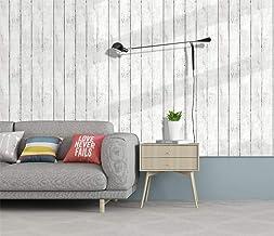ورق جدران لاصق ذاتيًا بتصميم خشب للاعمال المنزلية مقاس 45 ×600 سم مع بلاستيك بي في سي مضاد للماء ومضاد للزيوت وقابل للازال...