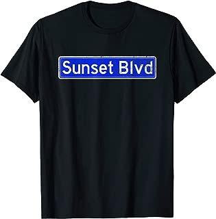 Sunset Blvd T-Shirt   Distressed Style LA Shirt