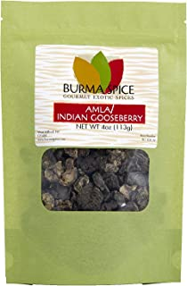 Dried Amla (Indian Gooseberries) | 100% Pure and Kosher Certified | High content of Vitamin C (4oz.)