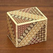 Bits and Pieces - Detailed Mosaic Secret Puzzle Box - 11 Step Solution - Wooden Money Brainteaser Secret Compartment Brain Game