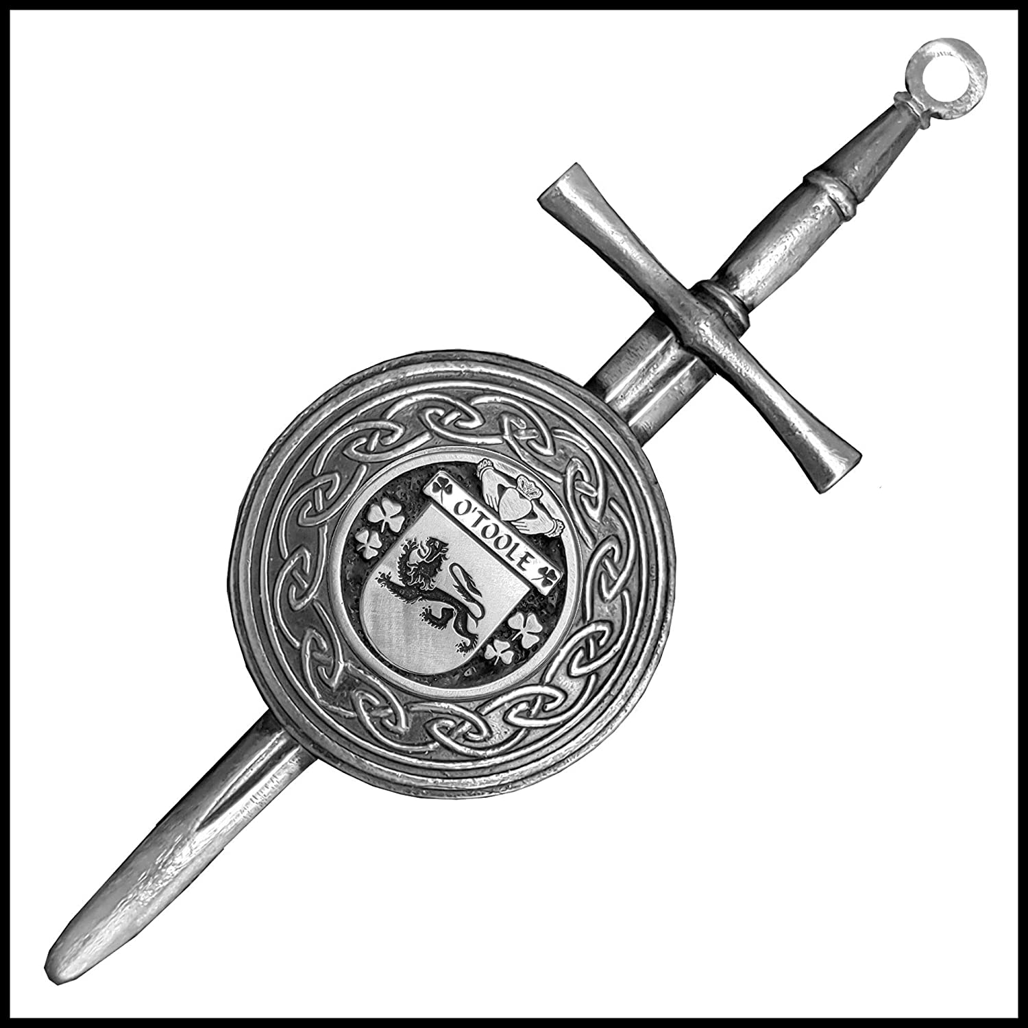 O'Toole Irish Dirk Spring Price reduction new work one after another Coat Of Kilt Arms Shield Pin