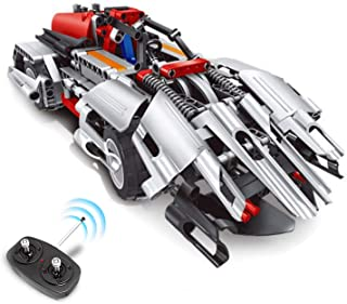 Best STEM Toys Remote Control Car for Boys 8-12 - 2-in-1 RC Car Kit Builds RC Car Racer/Off-Road Models Snap Together Blocks Engineering Toys for Kids Best Building Toys Set Gift for Boys and Girls Review