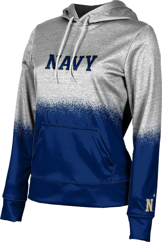 United States Naval Academy Girls' Pullover Hoodie, School Spirit Sweatshirt (Spray Over)