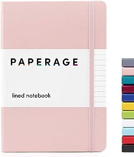 دفترچه یادداشت Paperage Lined Journal ، جلد سخت ، متوسط 5.7 X 8 اینچ ، 100 گرم ضخامت کاغذ. استفاده برای دفتر ، خانه ، مدرسه یا مشاغل (صورتی صورتی ، روکش شده)