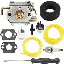 Hilom WT-827 Carburetor with Screwdriver Air Fuel Filter for MTD Bolens Trimmer BL100 BL150 BL250 BL410 Yard Man Machines YM70SS 120R 121R 2800m Y28 Y725 YM1000 Weedeater 7843 753-05133 753-04333