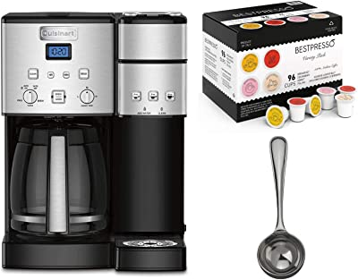 Cuisinart SS-15 Coffee Center 12-Cup Coffeemaker and Brewer Bundle with Coffee Measure and 96-Count Variety Pack K-Cup Set (3 Items)