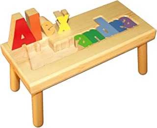 Damhorst Toys & Puzzles Personalized Wooden Child's Name Puzzle Stool - Large
