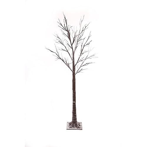 Jaymark Products 6ft/180cm Snowy Effect Brown Twig Christmas Tree -Pre Lit  96 Warm - Twig Christmas Trees: Amazon.co.uk