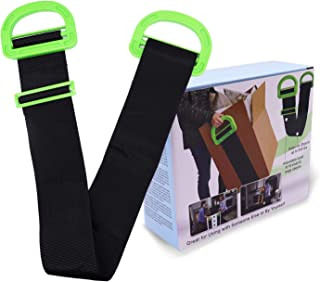 Moving Belt Adjustable Moving Straps and Lifting Straps for Furniture, Boxes, Mattress, Construction Materials, Other Heavy, Bulky Objects Carrying Straps for Single or Two Person Carrying