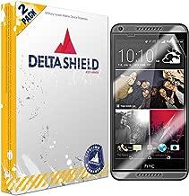 DeltaShield Screen Protector for HTC Desire 816 (2-Pack) BodyArmor Anti-Bubble Military-Grade Clear TPU Film