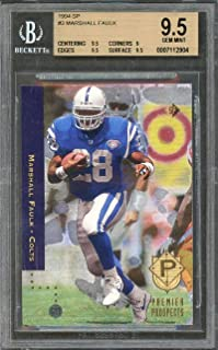 1994 sp #3 MARSHALL FAULK indianapolis colts rookie card BGS 9.5 (9.5 9 9.5 9.5) Graded Card