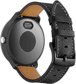 ساعة BIGTANG متوافقة مع Garmin Vivo Active 3 ، حزام ساعة من الجلد الطبيعي 20 مم لجارمين فوررنر 645 / فوررنر 245 / سامسونج ...