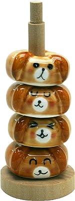 ヤマキイカイ 箸置き (イヌ) 茶 MJ498