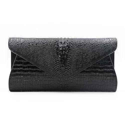 5065e80e4b05 GeniuR Women s Handbags Clutch Genuine Leather Evening Handbags Formal  Party Clutches Handbag Daily Use Shoulder Bag