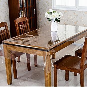 Eternal Wings 正方形 汚れ防止 透明テーブルカバー テーブルクロス PVC製 透明 テーブルカバー テーブルマット デスクマット 厚さ0.5mm/0.23mm(137*137,0.5)