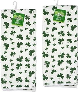 Saint Patrick's Day Shamrock Towels Set of 2