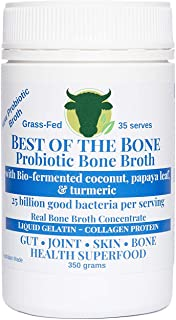 BONE BROTH Premium Beef Bone Broth Concentrate Coconut Flavor - 100% Sourced From AU Grass-Fed, Pasture-Raised Cattle - Healthier Skin & Nails, Healthy Digestion - Bone Broth Collagen