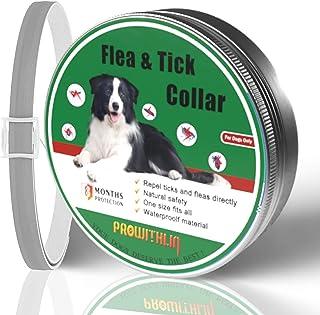 Collar Antipulgas para Perros, Collar Antipulgas de Seguridad Natural para Perros, Collar Antipulgas Ajustable, Collar Imp...