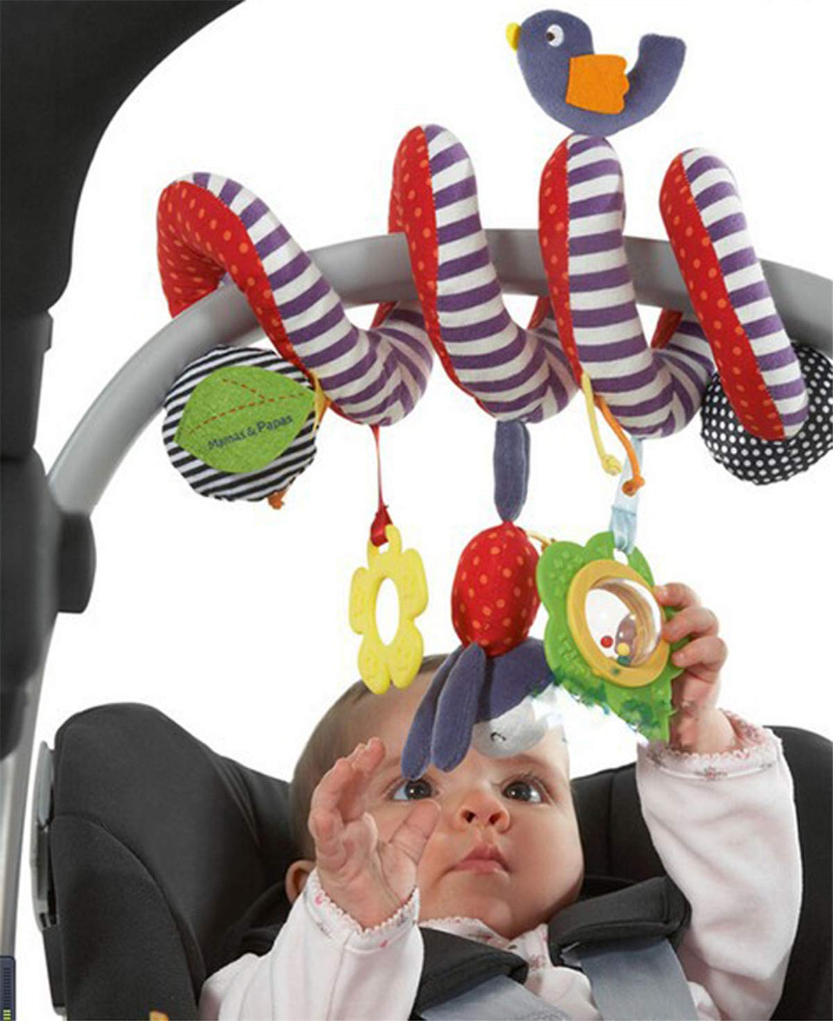 CdyBox Stroller Car Seat Toy for Baby/Cot Spiral Hanging Toy Entertainment BB Travel Activity
