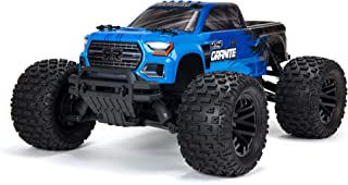ARRMA RC Truck 1/10 Granite 4X4 V3 MEGA 550 Brushed Monster Truck RTR (Ready- to Run), Blue, ARA4202V3T1