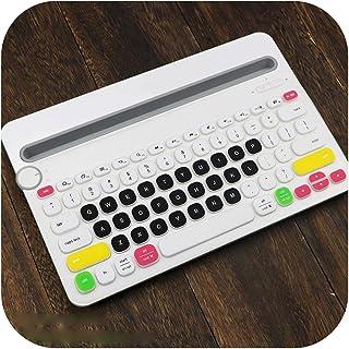Candyblack toetsenbordbescherming voor Logitech K480 Bluetooth toetsenbord, meerdere apparaten, siliconen, stofafstotend, ...