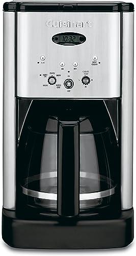 lowest Cuisinart 2021 DCC-1200 sale Brew Central 12 Cup Programmable Coffeemaker, Black/Silver outlet online sale