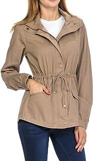 レディース プレミアム ヴィンテージウォッシュ加工 軽量 ミリタリー ファッションツイル フード付きジャケット